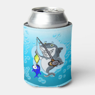 Shark fishing a fish can cooler