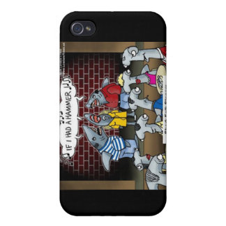 Shark Folk Singers Funny Gifts & Cards iPhone 4 Cover