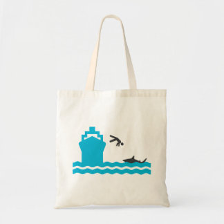 Shark food tote bag