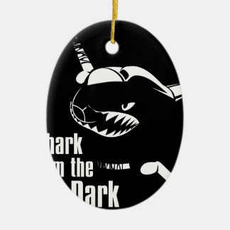 shark from the dark ceramic oval decoration