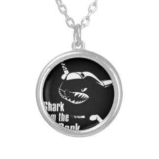 shark from the dark round pendant necklace