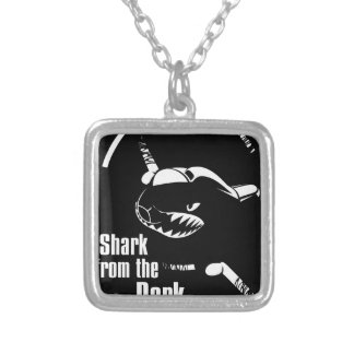 shark from the dark silver plated necklace