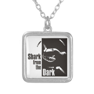 shark from the dark square pendant necklace