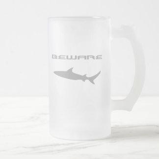 Shark Frosted Glass Beer Mug