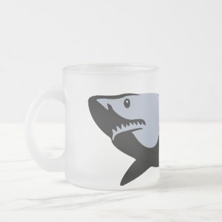Shark Frosted Glass Coffee Mug