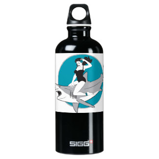 Shark Girl Pin-Up Water Bottle