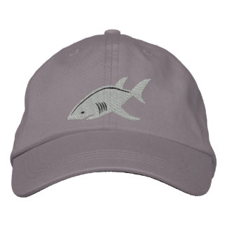 Shark Great White Embroidered Hat