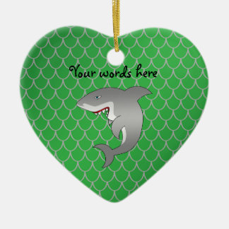 Shark green dragon scales christmas ornament