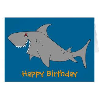 shark birthday cards  invitations  zazzle.co.uk, Birthday card