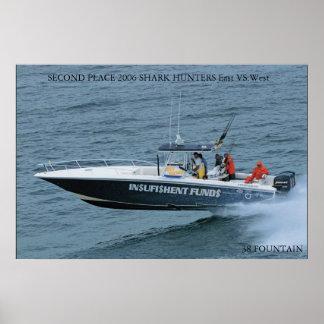 shark hunters running photo posters