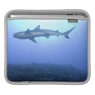 Shark in ocean, low angle view iPad sleeve
