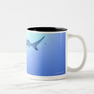 Shark in ocean, low angle view Two-Tone coffee mug