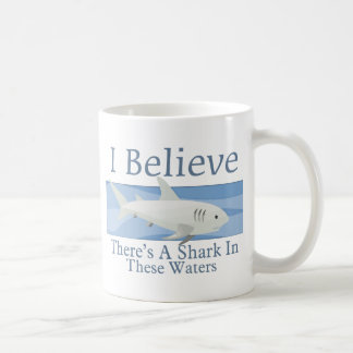 Shark In These Waters Coffee Mugs