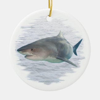 Shark in water christmas ornament