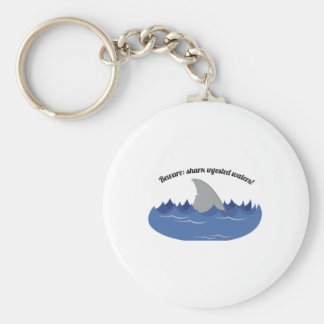 Shark Infested Basic Round Button Key Ring