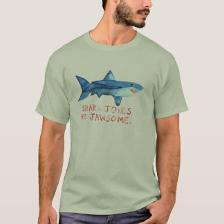 Shark Jokes are Jawesome- Mens Shirt