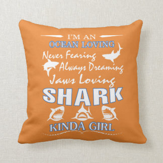 SHARK KINDA GIRL CUSHION