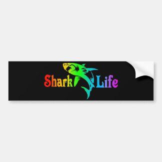 Shark Life Bumper Sticker