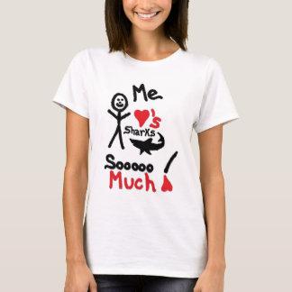 Shark Lover Cartoon T-Shirt