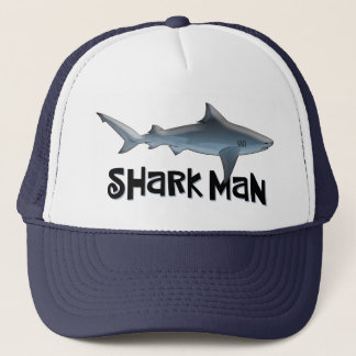 Shark Man Trucker Hat