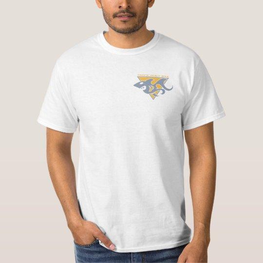 Shark Mark - Gold & Grey T-Shirt