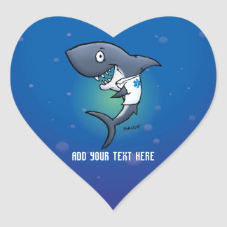 Shark Medical Healthcare Heart Stickers