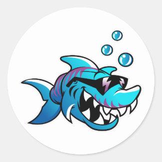 Shark, Meet Me at the Beach, Funny, Round Sticker