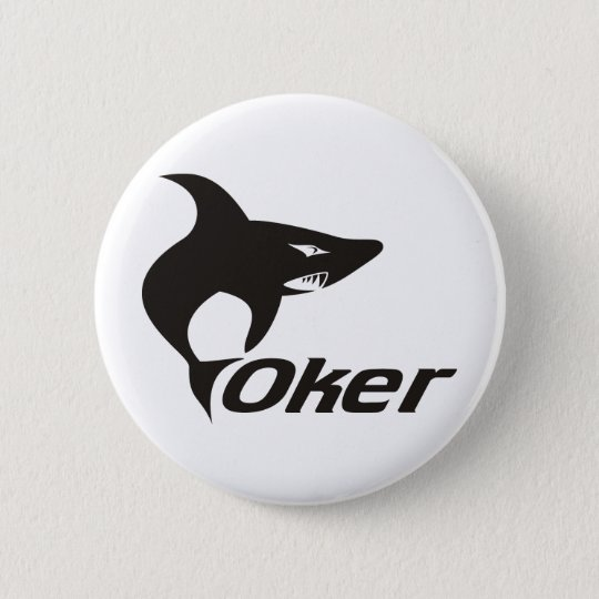 Shark One 6 Cm Round Badge