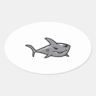 SHARK OVAL STICKER