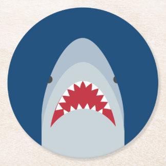 Shark Paper Coaster Set Round Paper Coaster