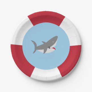 Shark Paper Plates 7 Inch Paper Plate