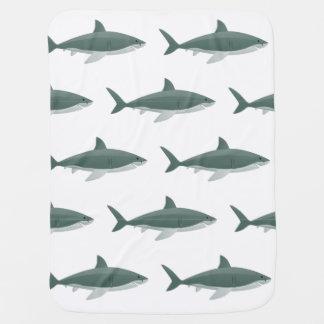 Shark pattern background on Baby Blanket