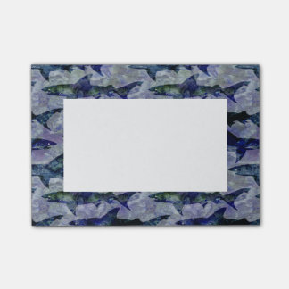 Shark Pattern in Purple and Blue Post-it® Notes