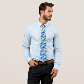 Shark Pattern, White Sharks Tie