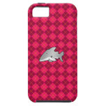 Shark pink argyle pattern iPhone 5 case