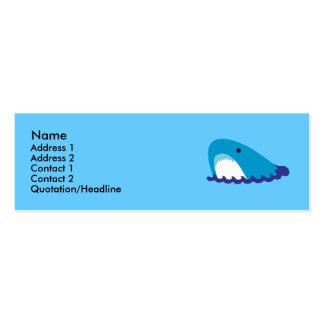 Shark Profile Cards Pack Of Skinny Business Cards