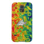 Shark psychedelic rainbow