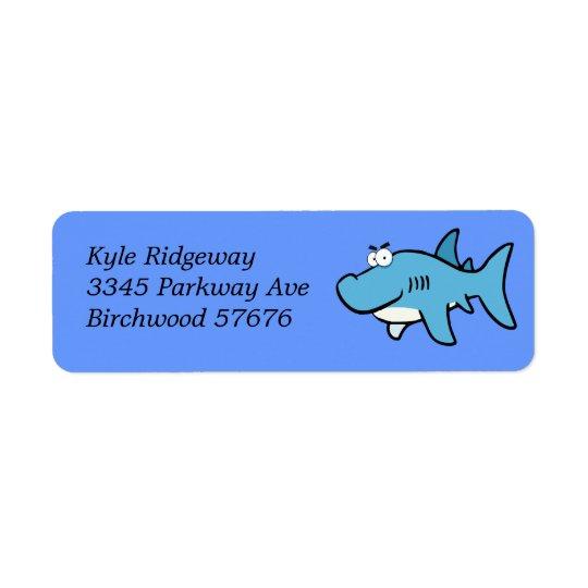 Shark  Return Address Label