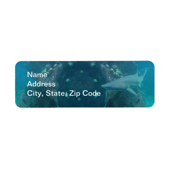 Shark Return Address Label