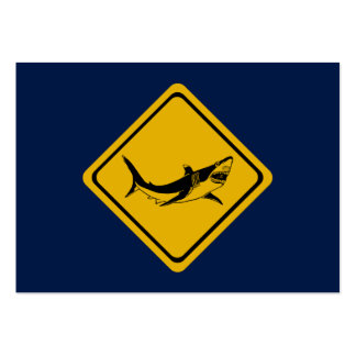 shark road sign pack of chubby business cards