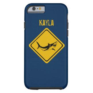 shark road sign tough iPhone 6 case