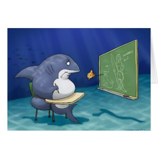 Shark School Note Card
