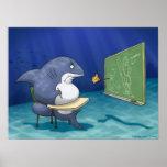 Shark School Print