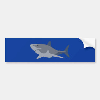 Shark shark bumper sticker