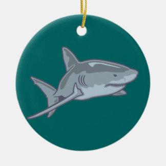 Shark shark christmas ornament