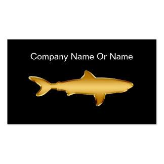 Shark Silhouette Business Cards