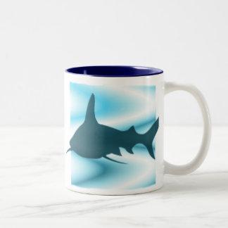 Shark silhouette Mug
