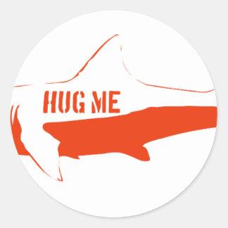 Shark, so hug me! classic round sticker