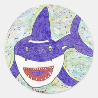 Shark Species Autism Round Sticker