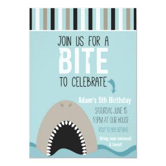 Shark & Stripes Birthday Invitation